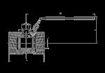 Syrafast Kulventil Enkel PN63