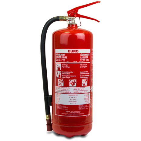 Brandsläckare Heta Arbeten ABC Pulver