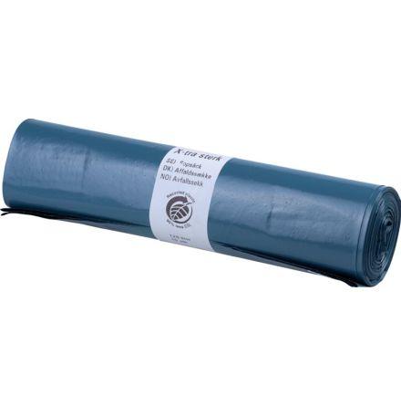 Sopsäck 125L Blå 90my