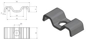 Durkklammer E 22-32mm