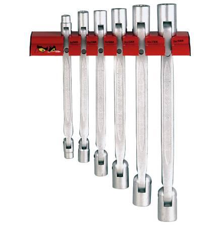 Ledhylsnycklar med väggställ Teng Tools WRDF06